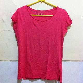 Stradivarius Basic T-shirt (Rose)