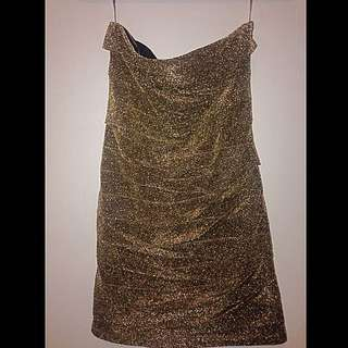 Dynamite-Gold mini dress