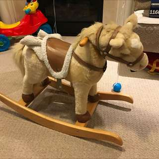 Children Vintage Rocking Horse With Sound