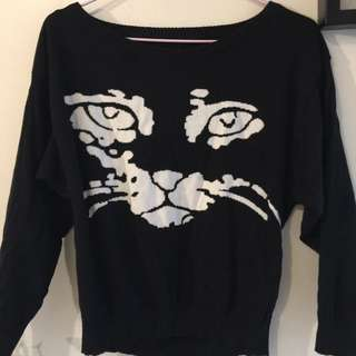 老虎黑色長袖衣