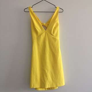 Zara Trafaluc Yellow Dress Size S