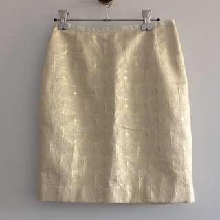 H&M New Golden Skirt Size 34EU