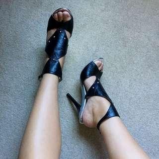 Luichiny Black Martini Stilettos - Size 39