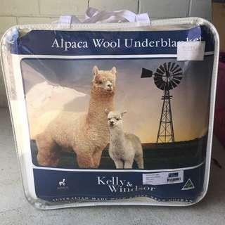 Kelly & Windsor Alpaca Wool Under blanket Queen