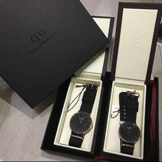 Instock Cornwall Couple Bundle Just Released!! Authentic BNIB Daniel Wellington Sheffield, Canterbury, Dapper, York Black Gold or Full Black Watch!!