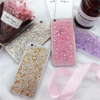 [PO] glitter flakes soft case