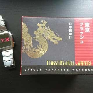 TOKYOFLASH JAPAN LED 數位錶 鏡面 帥氣 有型 獨特 不鏽鋼