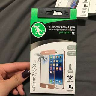 Gecko iPhone 7 / 6 / 6s Full Cover Rose Good Tempered Glass Screen Protector