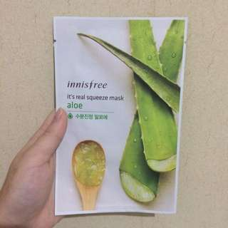 Innisfree  Aloe Real Squeeze Mask [SOLD]
