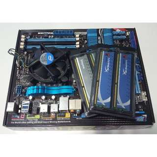 Asus P8H67 Motherboard w i5-2400 w 12Gb RAM