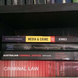 REDUCED Criminal Law And Criminology Assorted Textbooks
