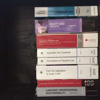 Law textbooks (assorted)