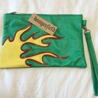 Green Leather Dangerfield Clutch/bag
