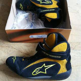 Alpine Stars Racing Shoes F1 R Yellow Black Size US 9 Euro 42