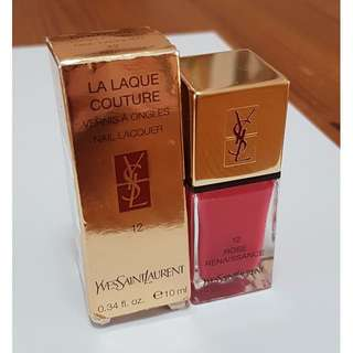 YSL Nail Lacquer in Rose Renaissance 12 *BRAND NEW*