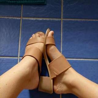 Nude Strapless Heels