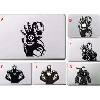 [FREE DELIVERY] Marvel The Avengers Iron Man Computer Car Wall Skin Laptop Vinyl Stickers for Macbook
