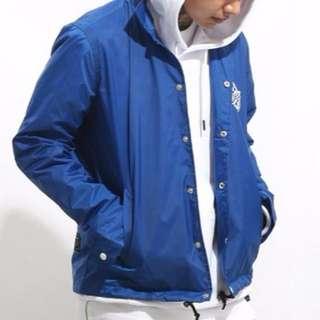 UNDER PEACE 16AW 賽車格子薄教練外套 (藍色)