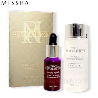 [MINI SIZE] MISSHA TIME REVOLUTION FIRST TREATMENT ESSENCE FRE MOIST 30ml + NIGHT REPAIR BORABIT AMPOULE 10ml