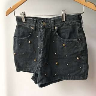 Vintage Grunge High-Waisted Denim Shorts