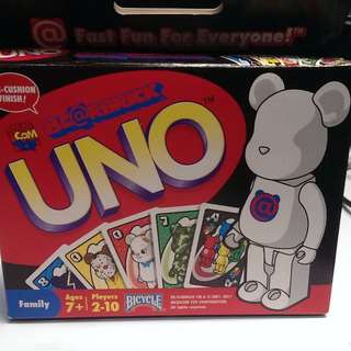 bicycle and  BEARBRICK 魔術 樸克牌 聯名牌UNO遊戲