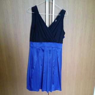Dress Biru hitam