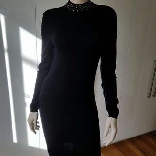 GUESS knit black Dress size L