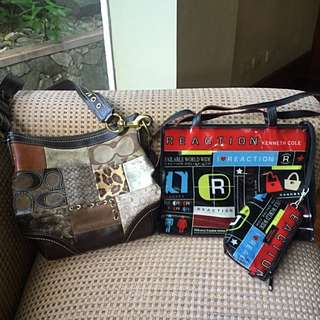 Authentic Coach and Kenneth Cole bags