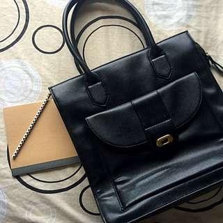 MEMO Black Office Bag