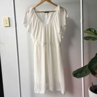 Size S LADAKH White Flowy Dress