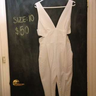 Bardot Full Length White Jumpsuit