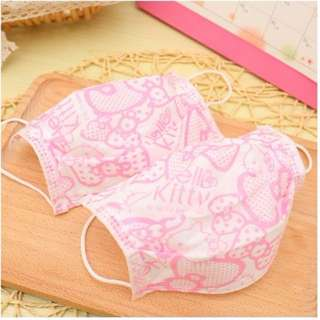 🚚 (三個/組)卡通 KITTY口罩 粉色口罩 女生好物 萌物 凱蒂貓口罩