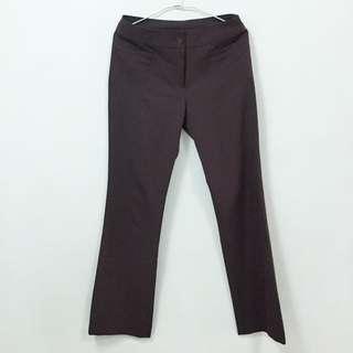 古著 紫棕色直筒長褲