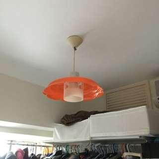 罕有懐舊橙色花形膠燈
