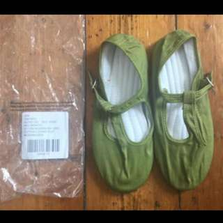 Urban Outfitters Cotton T Strap Flat