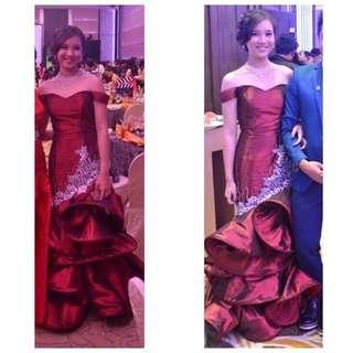 Prom Gown- Kathryn Bernardo Inspired (wine Red)