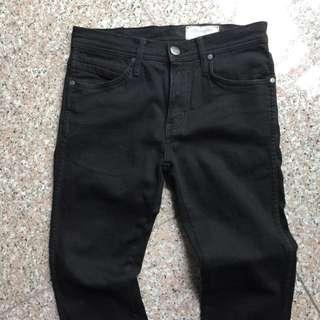 Genuine Black Wrangler Jeans Vegas 322 Low Waist Skinny