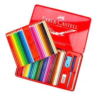 Faber-castell watercolour pencils 48(with one free elastic brush+eraser+pencil+sharpener)