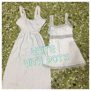 WHITE with DOTS Grab Bag (dress & top)