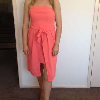 Peachy Pink Dress Size 10