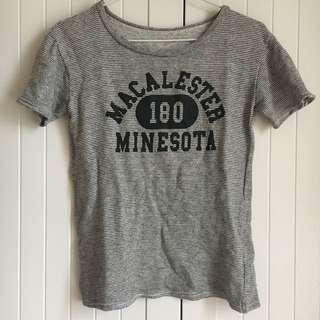 毛巾布材質橫條紋休閒上衣T-shirt