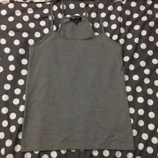 Topshop Grey Cotton Camisole