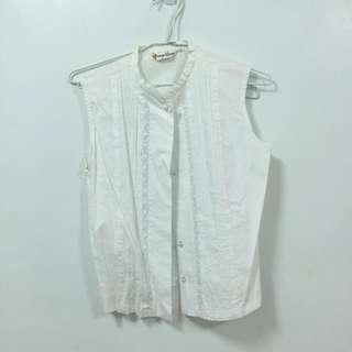 古著 白色襯衫背心