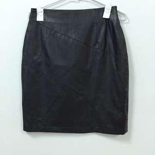 古著 拼接款高品質皮裙