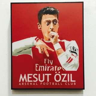 Mesut Ozil Football Poster