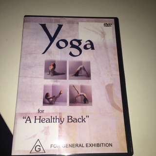 Yoga For A Healthy Back DVD