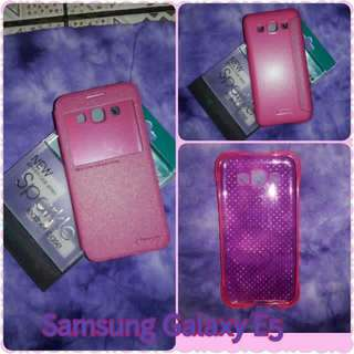 Samsung Galaxy E5 Leather Case