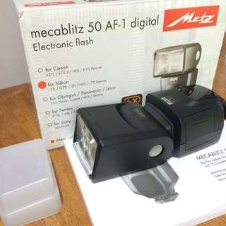 Metz Mecablitz 50 AF-1 Flash For Nikon