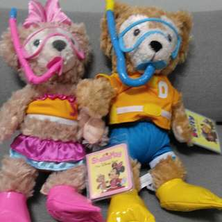 迪士尼 Duffy & Shellie May 一對公仔