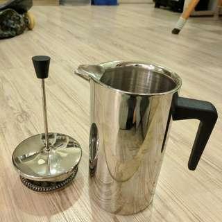 雙層不鏽鋼法式濾壓壺,法壓壺french press ,濾茶壺 ...